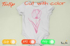 Tulip Flower - Cut File with 2 Layers Product Image 2