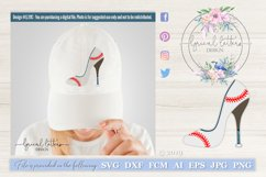 Baseball Softball High Heel Shoe SVG DXF LL111C Product Image 1