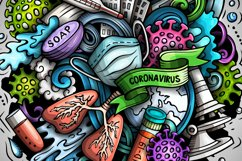 Cartoon vector doodles Coronavirus illustration Product Image 2