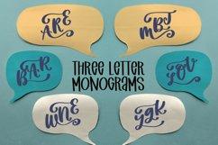 Three Letter Monogram Font Product Image 1