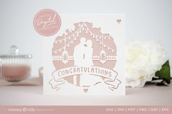 Congratulations Wedding Card SVG for Cricut and Silhouette Product Image 2