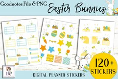 Easter Bunny Digital Printable Stickers Goodnotes PNG Product Image 3