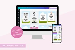 40 Pinterest Canva Templates with Pink Blush and Gray Theme Product Image 2