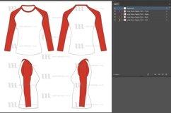 Raglan Women's Short Sleeve Shirt - Vector Mockup Template Product Image 2