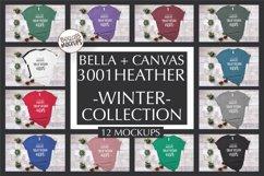 Bella Canvas T Shirt Mockup Bundle, Heather 3001, Winter Product Image 1