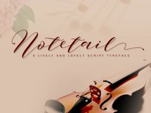 Notetail Script Typeface Product Image 1
