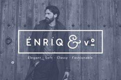 Enrique - 8 Fonts Fashionable Elegant Sans Serif Font Product Image 1