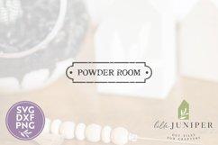 Vintage Powder Room SVG, Bathroom Sign SVG Product Image 2