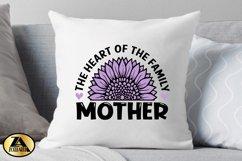 Mothers Day SVG PNG EPS DXF MOTHER SVG Mom Sunflower SVG Product Image 3