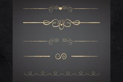 22 Page Dividers and Borders, Gold Foil Clipart Dividers Product Image 3