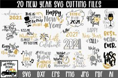 New Year's SVG Bundle with 20 SVG Cut Files DXF EPS PNG Product Image 1