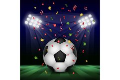 Football day concept background, realistic style Product Image 1