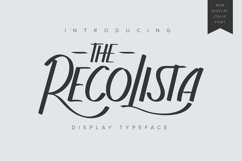 The Recolista   Display Typeface Product Image 1