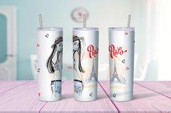 Travel girls in Paris tumbler sublimation design Png Product Image 4