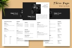Modern Resume CV Template for Word & Pages Liam Hunt Product Image 4