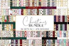 Christmas BUNDLE digital paper pattern Product Image 1