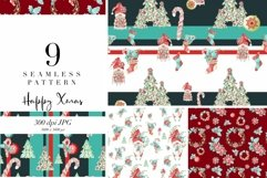 9 seamless pattern Xmas decor, repeat pattern, JPG, holidays Product Image 1