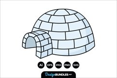 Igloo Clipart Product Image 1