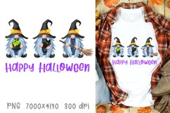 Halloween sublimation designs fall Halloween witch gnomes Product Image 1