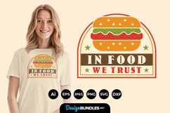 In Food We Trust Hand Lettering SVG Product Image 1