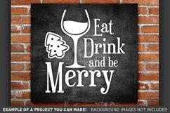 Eat Drink and Be Merry SVG - Eat Drink and Be Merry Sign 35 Product Image 1