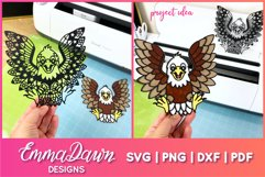EARL THE EAGLE SVG ZENTANGLE MANDALA DESIGN Product Image 2