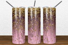 Rose Gold Wood Gold Glitter 2oz Skinny Tumbler Sublimation Product Image 1