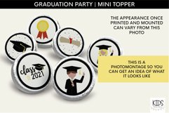 Graduation Kiss Stickers, Class of 2021 Party Favors Product Image 3