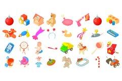 Toys icon set, cartoon style Product Image 1