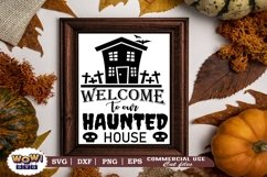 Welcome to our haunted house svg, Halloween svg, Spooky svg Product Image 1