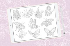 Butterflies brush stamps for Procreate and clip art Product Image 2