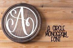 Circle Monogram Font - Monogram Initials Product Image 1