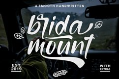 bridamount - a Smooth Handwritten font with extras Product Image 1