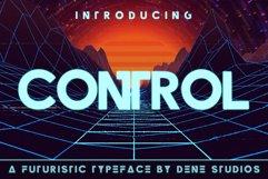CONTROL - A Futuristic Typeface Product Image 1