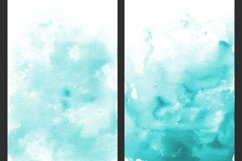 Teal Ombre Watercolor Backgrounds Product Image 3