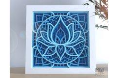 M136 - Lotus Flower Mandala, Shadow Box Mandala SVG DXF Product Image 2