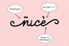 Sprinky - Multilingual Swash Script Product Image 6