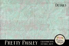 Paisley Background Textures - Shabby Pretty Paisley Papers Product Image 3
