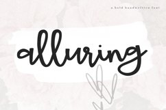Alluring - A Bold Script Font Product Image 1