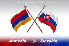 Armenia versus Slovakia Two Flags Product Image 1