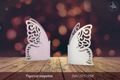 Butterfly papercut tempelate, SVG cutting file Product Image 1