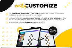 Black and yellow Instagram Puzzle Preset for Canva Product Image 5