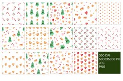 Seamless Christmas pattern with watercolor illustration Product Image 4