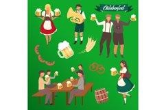 Oktoberfest flat vector illustrations set Product Image 1
