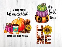 Fall Sublimation Cliparts Bundle Product Image 2