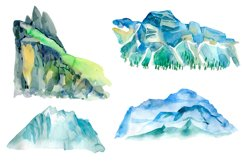 Watercolor Mountains and conifers Product Image 3