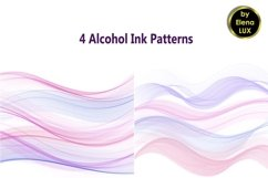 4 Alcohol ink backgrounds Product Image 1