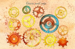 Steampunk watercolor clipart set Product Image 2
