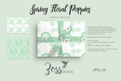 Spring Floral Poppies | Digital paper paper designs|Patterns Product Image 6