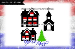 Cutting file houses, church and christmas tree Product Image 1